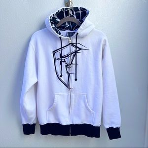 Famous Stars & Straps hoodie jacket small white